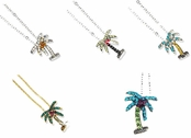 Crystal Tropical Palm Tree Necklace