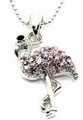 Crystal Pink Flamingo Necklace
