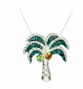 Swarovski Crystal Tropical Palm Tree Necklace