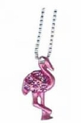 Pink Flamingo Crystal Pendant Necklace