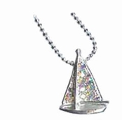 Crystal Sailboat Necklace