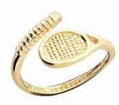 14K Yellow Gold Tennis Racquet Toe Ring