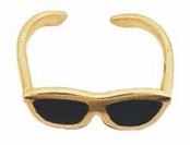 14K Yellow Gold & Enamel Sunglasses Toe Ring