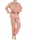 BedHead Pink Cabin Fever Sateen Classic PJ for Women