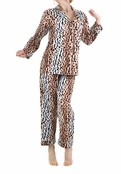BedHead Blue Cheetah Sateen PJ for Women