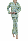 BedHead Blue/Green Paisley Sateen Hipster PJ for Women