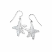 Starfish Filigree Sterling Silver Earrings