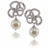 CAROLEE Pearl Bow Drop Earrings