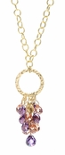 Sparkling Bouquet CZ Briolette Cluster Circle Necklace