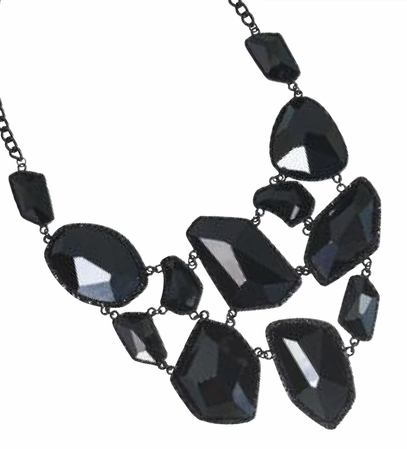 Belle Noir Faceted Black Necklace by Spring Street
