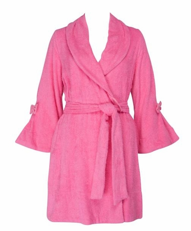 Betsey Johnson Pink Loop Terry Robe