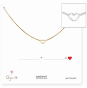 Dogeared Fill in the Blanks Heart Necklace