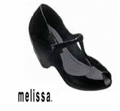Black Vinyl Shoes by Melissa Plastic Dreams