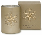 Primal Elements Snowflake Vintage Icon Candle