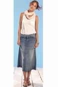 !iT Denim Midi Skirt