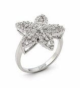 Starfish Layered CZ Ring