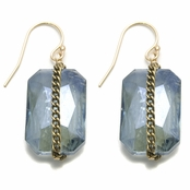 Janna Conner Blue Shadow Amber Earrings