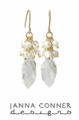 Crystal Cluster Drop Earrings by Janna Conner