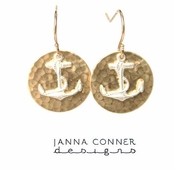 Anchor Circle Charm Earrings by Janna Conner