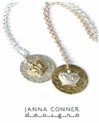 Crown Circle Charm Necklace by Janna Conner