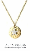 Star Circle Charm Necklace by Janna Conner