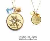 Yellow Gold Birthstone Necklace by Janna Conner
