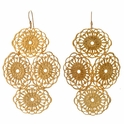 Janna Conner Yellow Gold Plate Beni Earrings
