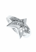 Wish Dream Hope Sterling Silver Star Ring by Boma
