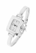 Sterling Silver Mother of Pearl Dial Bangle Watch by Boma
