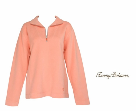 Bright Peach New Aruba Zip by Tommy Bahama