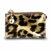 Kenneth Jay Lane Leopard Fruta Dorada Zip Coin Purse