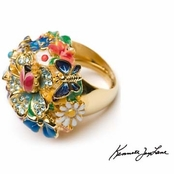 Garden Party Dome Ring by Kenneth Jay Lane
