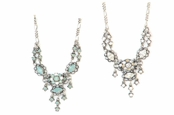 Swarovski Crystal Chandelier Bib Necklace by Kenny Ma