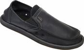 Men's Black  Leather Board Room Sidewalk Surfers by Sanuk