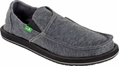 Men's Charcoal Pick Pocket Fleece Sidewalk Surfers by Sanuk