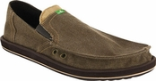 Men's Brown Pick Pocket Sidewalk Surfers by Sanuk
