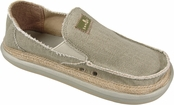 Men's Moss Green Hey Jute Sidewalk Surfers by Sanuk