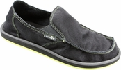 Men's Black Rogue Sidewalk Surfers by Sanuk
