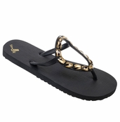Women's Zebra Gold Casablanca Sandals by Sanuk