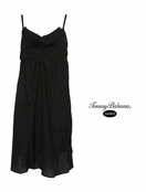 Black Crinkle Cotton Ruffle Sundress by Tommy Bahama