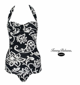 Scroll Paisley Halter One-Piece Swim Suit by Tommy Bahama