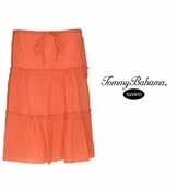 Mandarin Crinkled Cotton Triple Tiered Skirt by Tommy Bahama