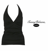 Midnight Pearl Shirred Halter Tankini Top by Tommy Bahama