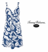 Tropical Floral Wrapping Paper Print Spa Dress by Tommy Bahama