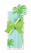 Lady Jayne By the Sea Palm Tree Die Cut List Pad & Pen Set
