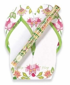 Summer Flip Flops Note Pad & Pen Set