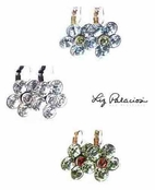 Swarovski Crystal Flower Leverback Earrings by Liz Palacios