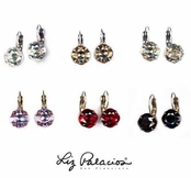 Swarovski Crystal Faceted Round Leverback Earrings by Liz Palacios 4