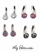 Swarovski Crystal Multi Round Bezel Leverback Earrings by Liz Palacios