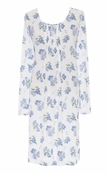 Lauren Ralph Lauren Blue Floral My Fair Lady Bingham Knits Short Gown